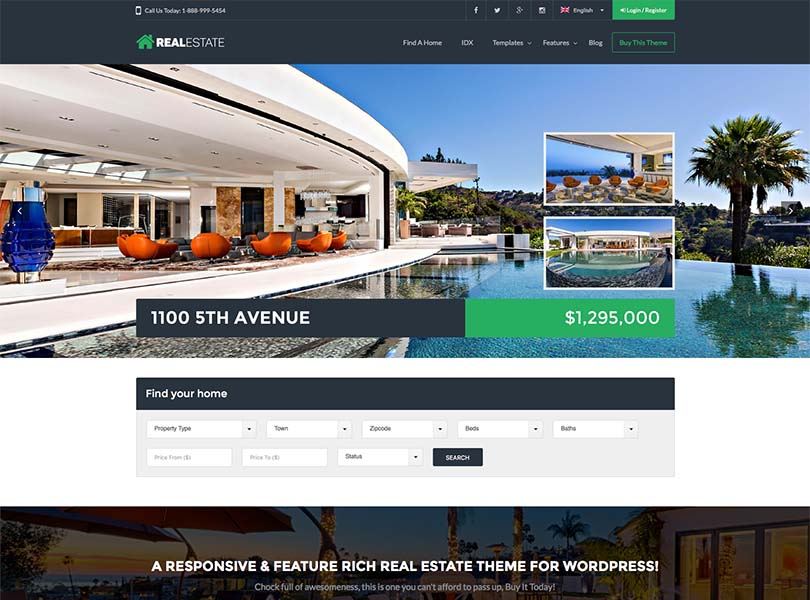 18+ Best Wordpress Property Management Themes 2018 - Siteturner