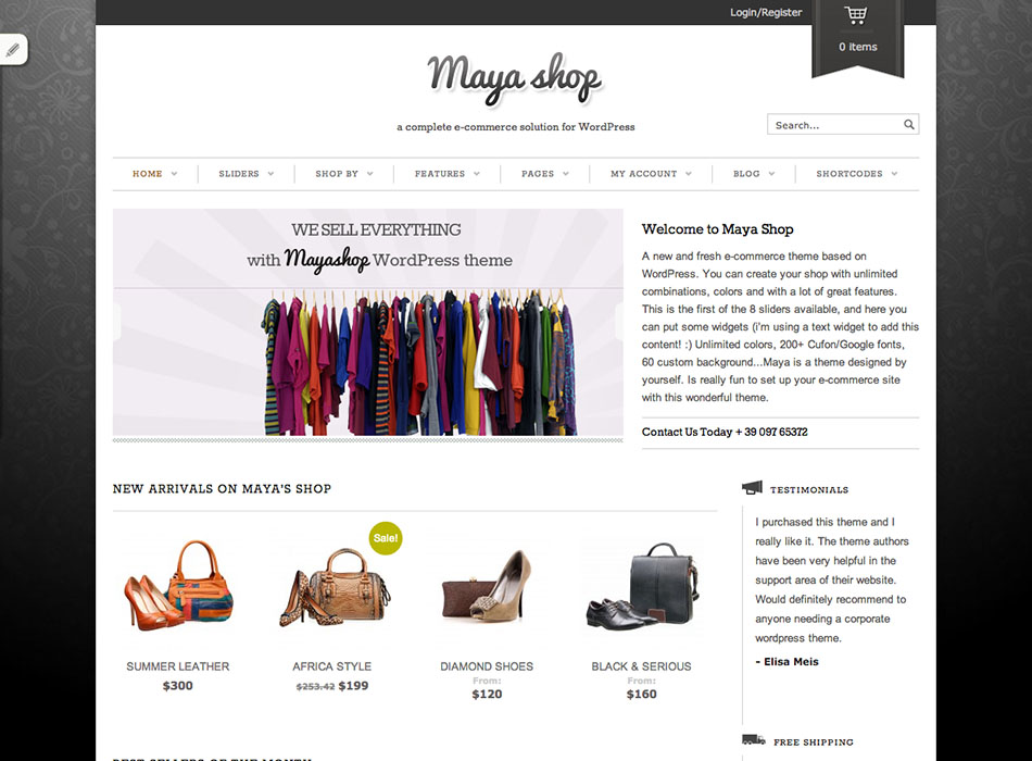 Maya Shop – Best Selling WordPress Themes