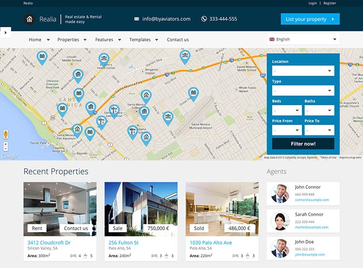 Relia WordPress Real Estate Theme