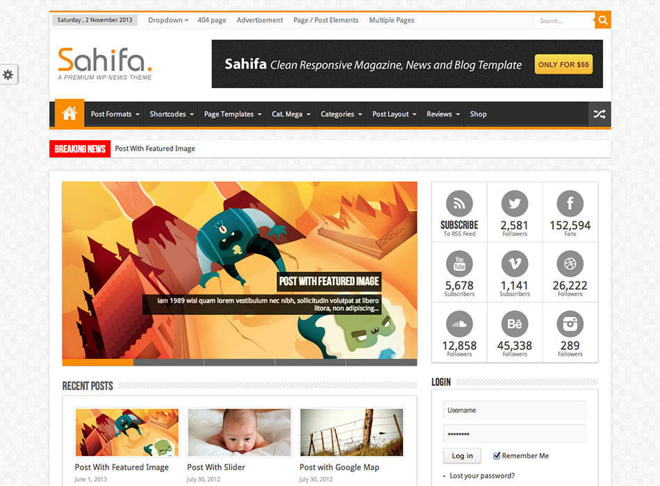 Sahifa – Best Selling WordPress Themes
