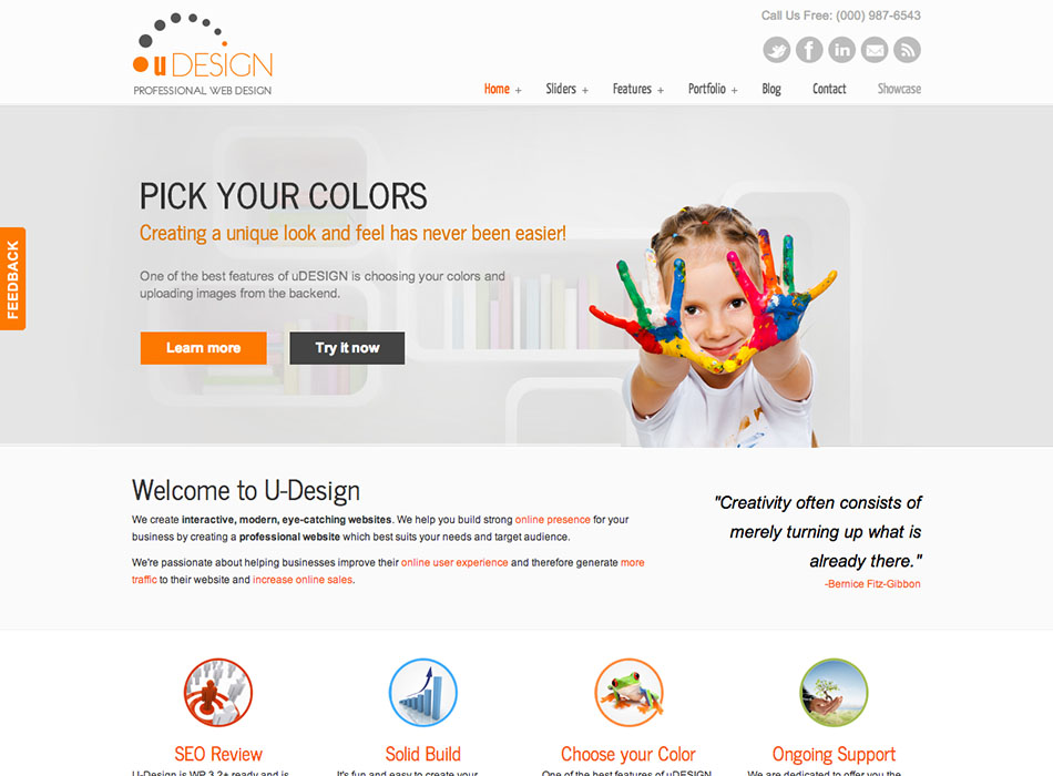 U Design – Best Selling WordPress Themes