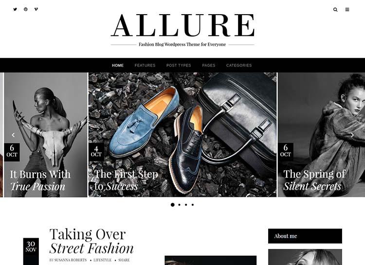 Allure Lifestyle & Fashion Blog theme