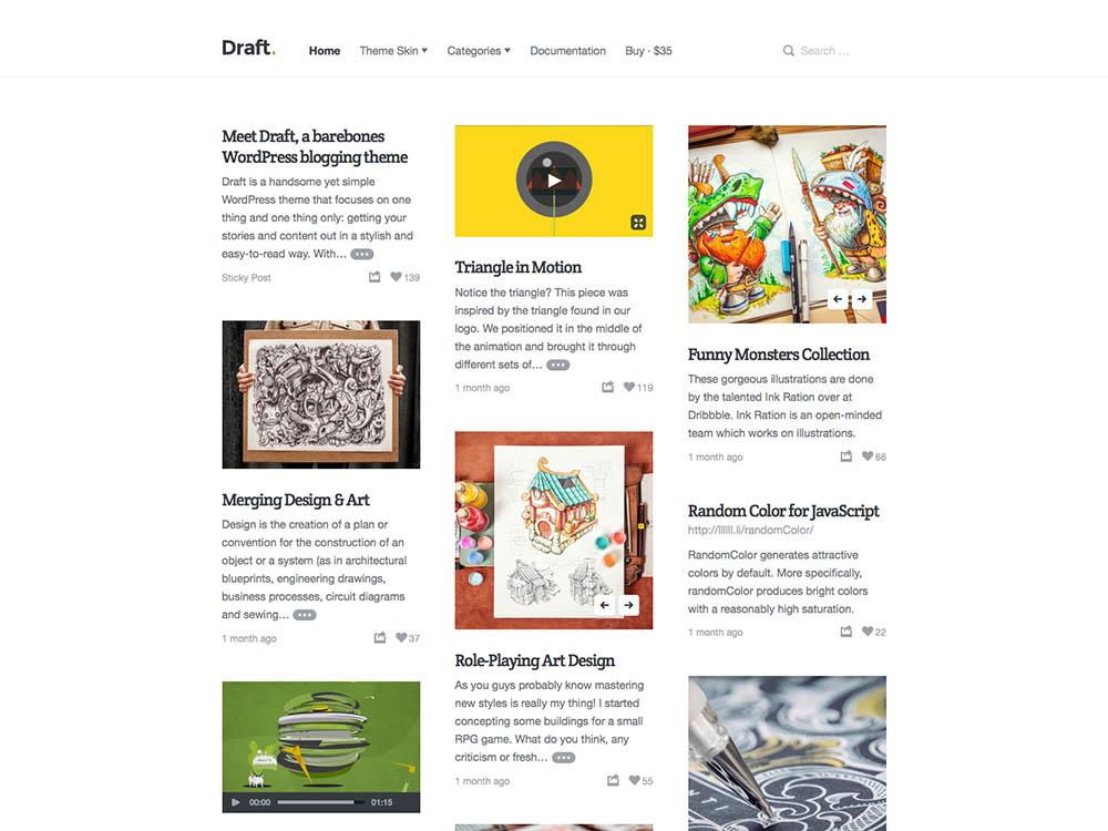 Draft - Best WordPress Blog Themes
