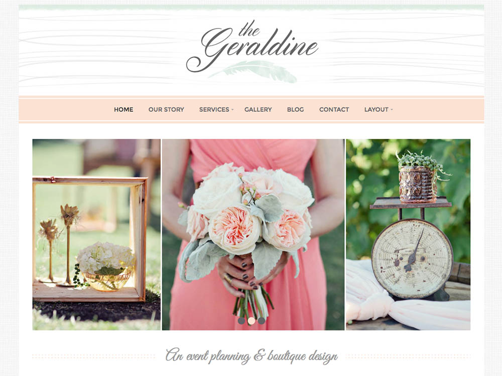 Geraldine Cute WordPress Theme