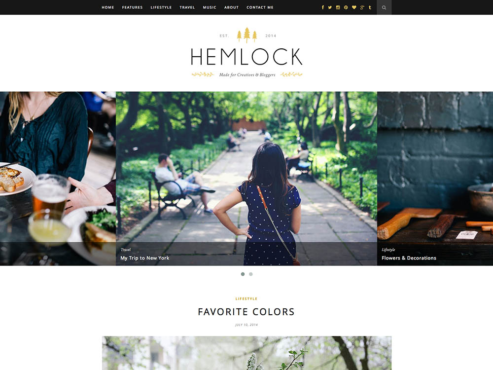 Hemlock - Best WordPress Blog Themes