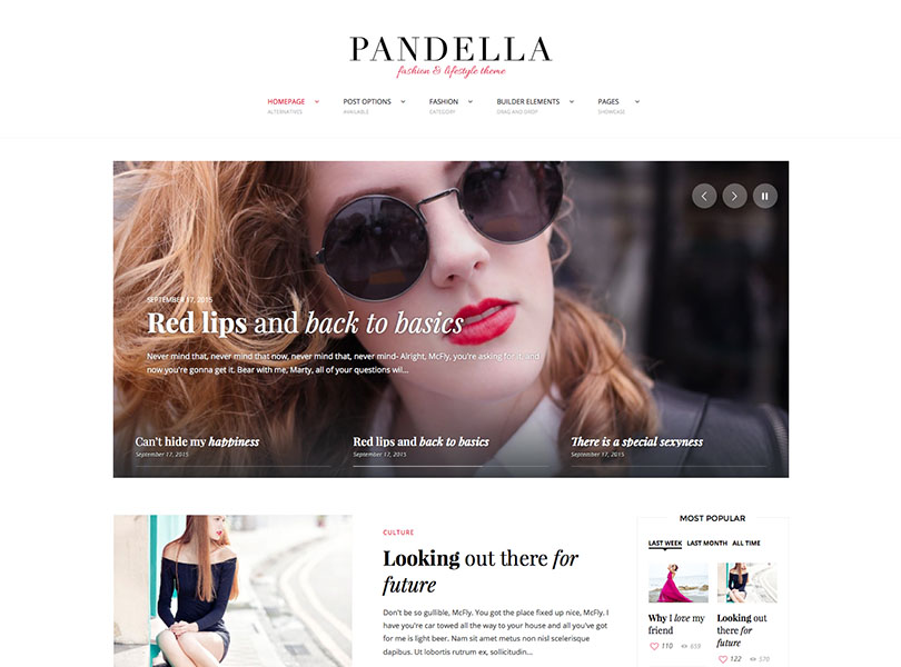Pandella Fashion Blog Theme for WordPress