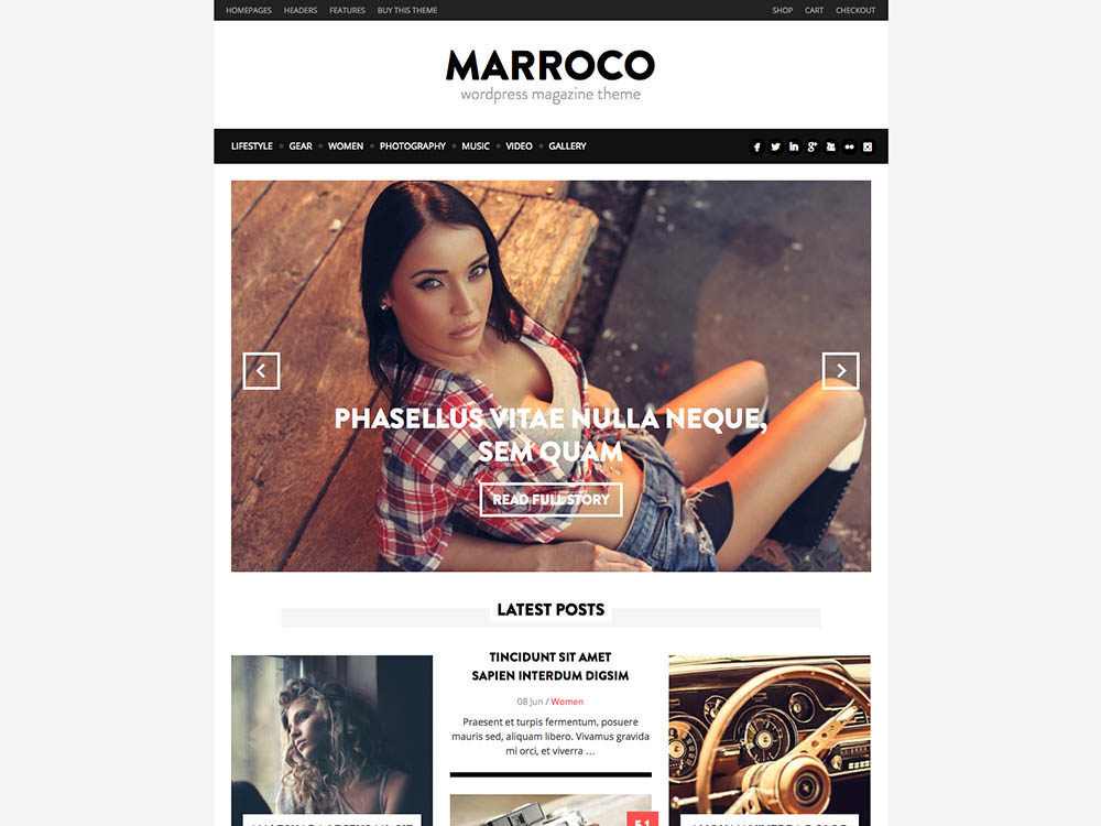 Best WordPress Fashion Blog Themes - Marroco