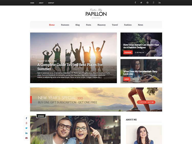 Papillon Blog Theme