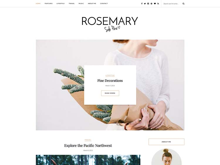 Rosemary Blog Theme for WordPress