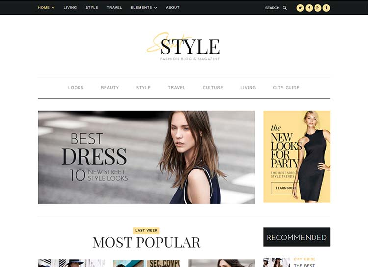 Street Style Fashion Mag theme for WordPress