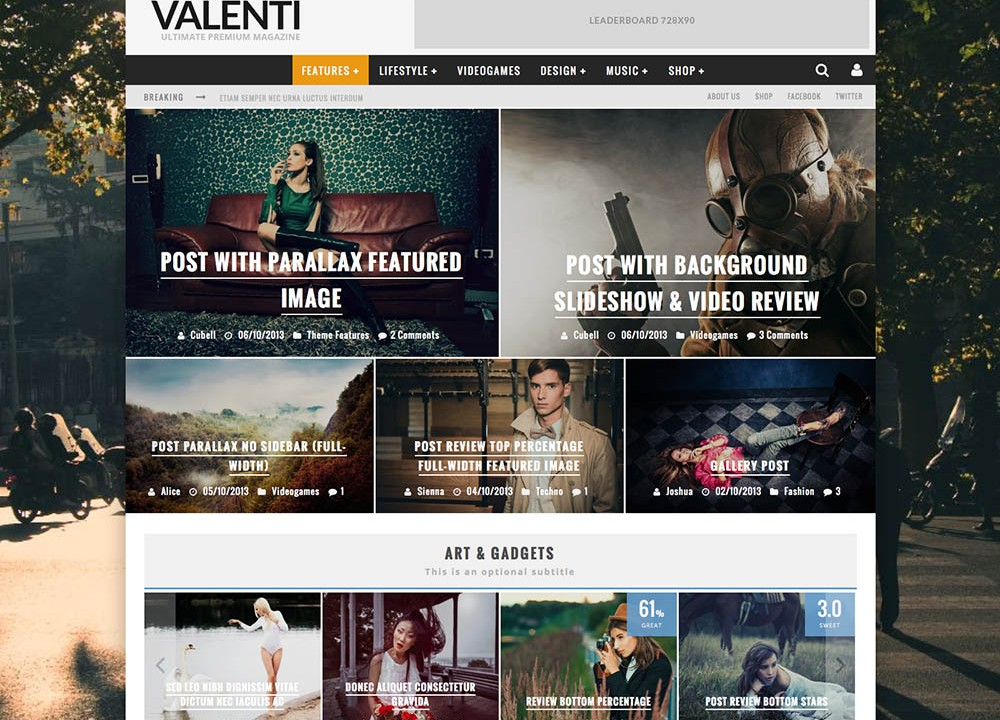 Best WordPress Fashion Blog Themes - Valenti