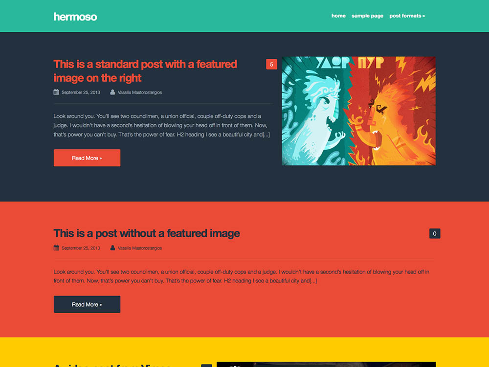 hermoso - Best WordPress Blog Themes
