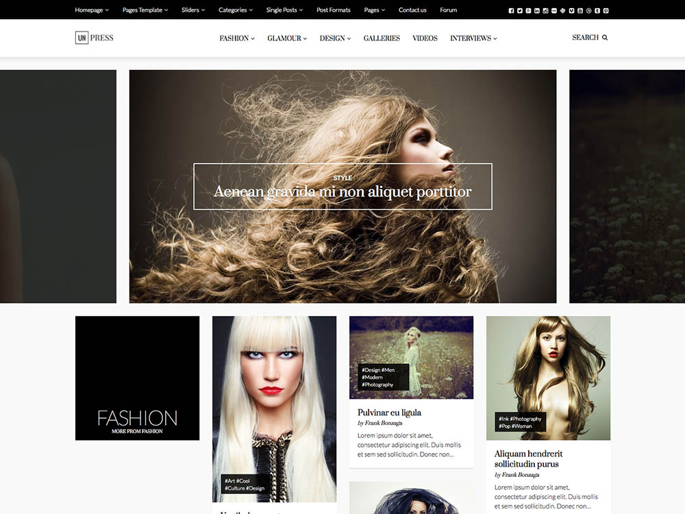 Best WordPress Fashion Blog Themes - Unpress