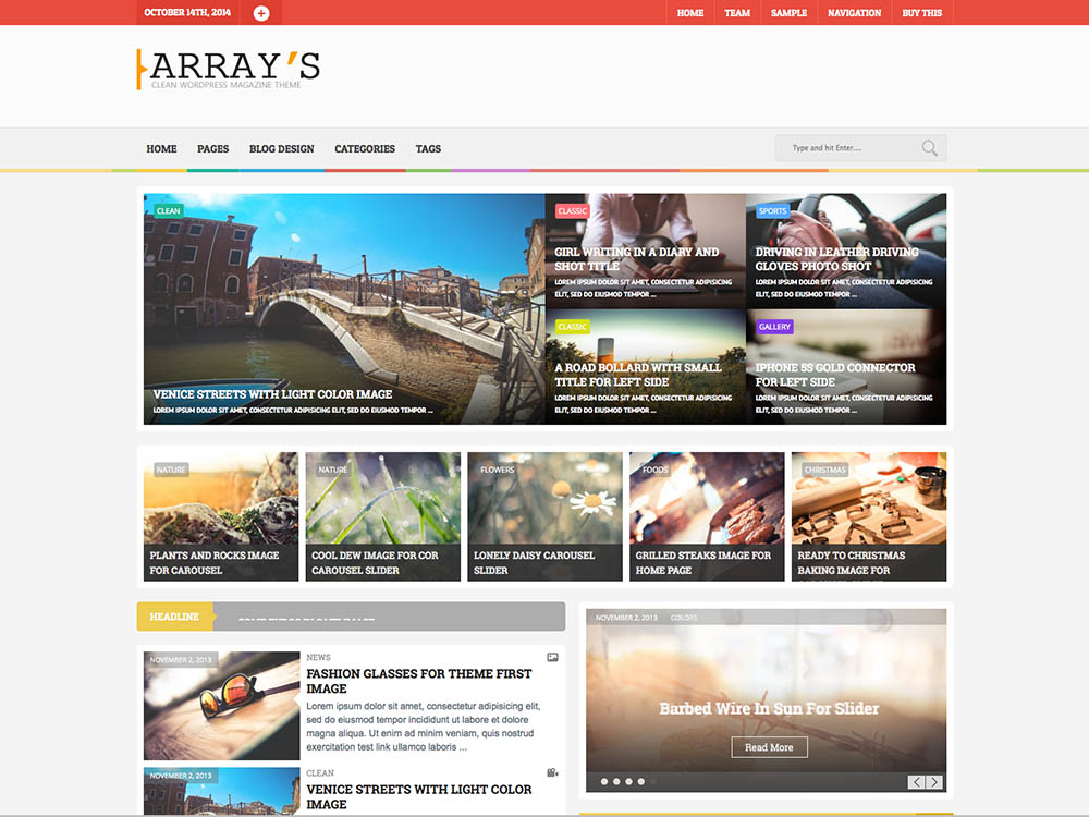 Arrays - Best WordPress Magazine Themes