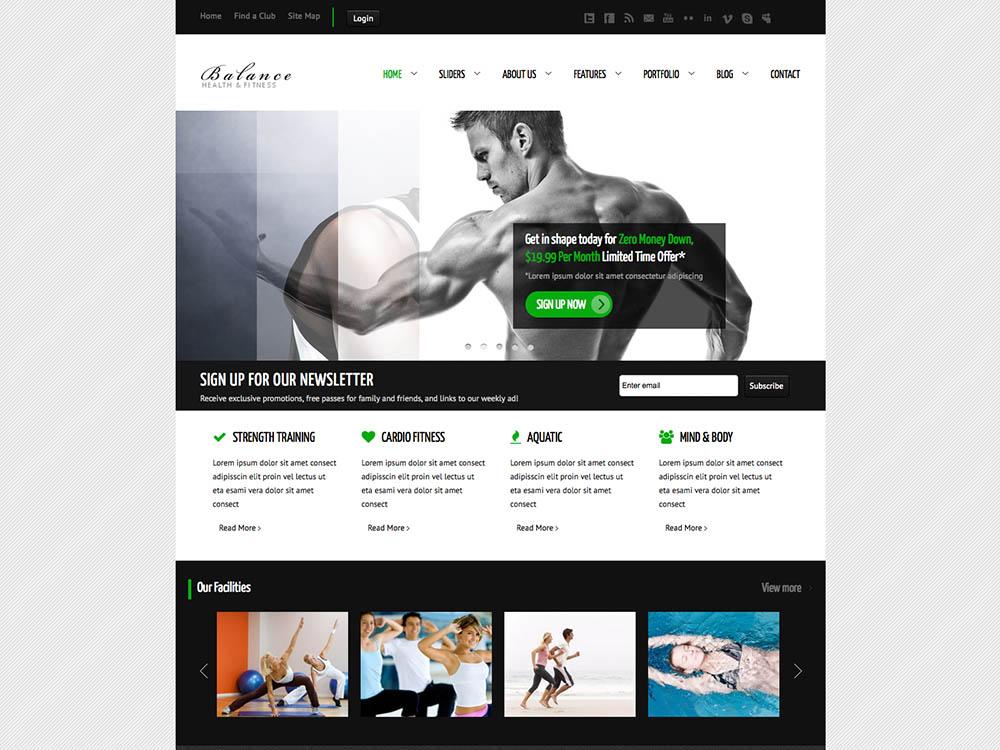 Balance GamePlan Best WordPress Gym and Fitness Themes
