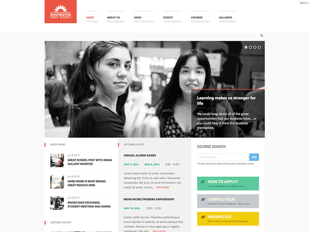A superb university theme for WordPress