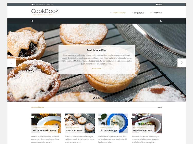 Cookbook Recipe & Food Theme for WordPress