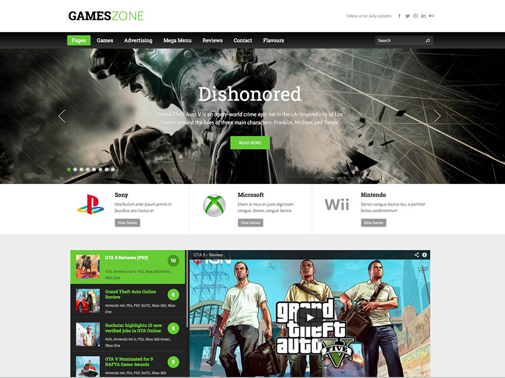 Gamezone - Best WordPress Magazine Themes