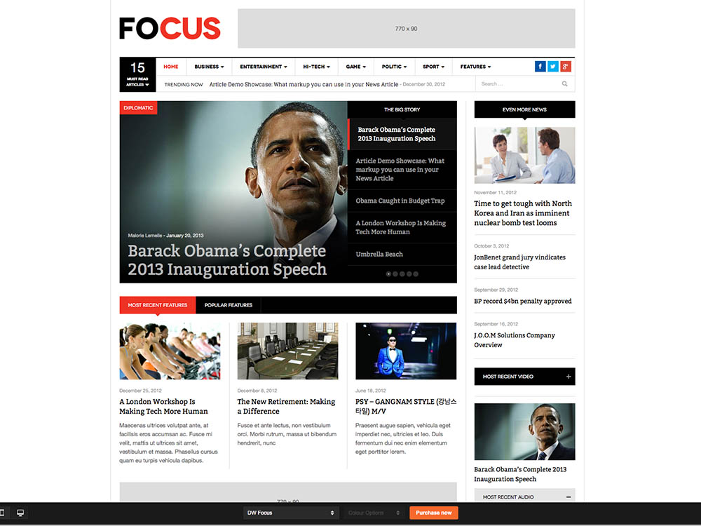 DW Focus - Best WordPress Magazine Themes