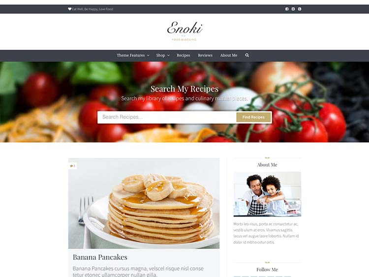 Enoki Lite Food Blog Theme for WordPress