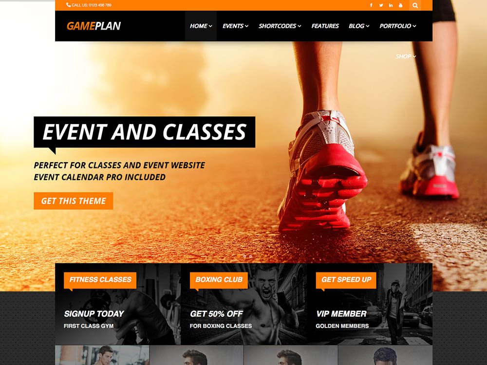 GamePlan Best WordPress Gym and Fitness Themes