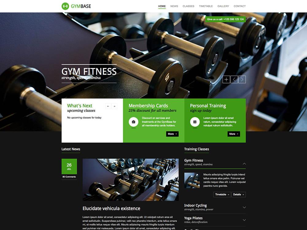 GymBase Best WordPress Gym and Fitness Themes