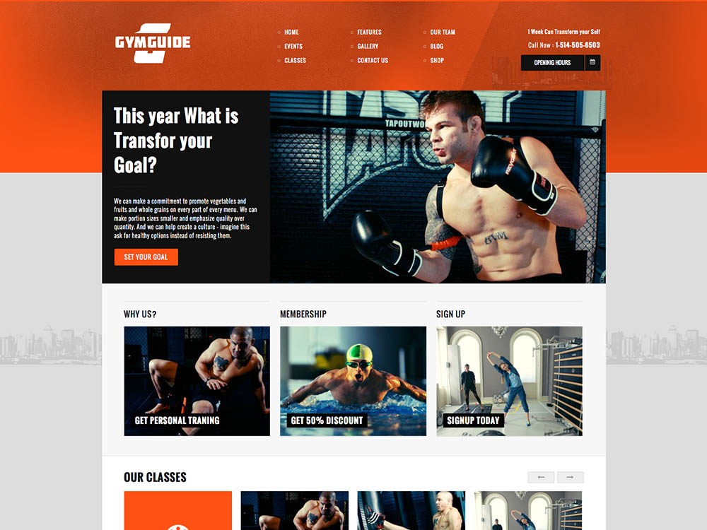 Gym Guide Best WordPress Gym and Fitness Themes