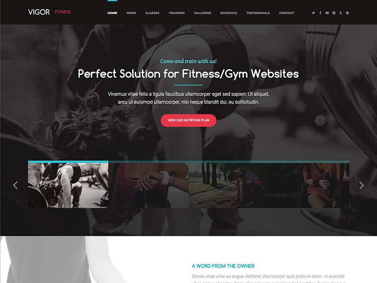 The best gym and fitness theme for WordPress