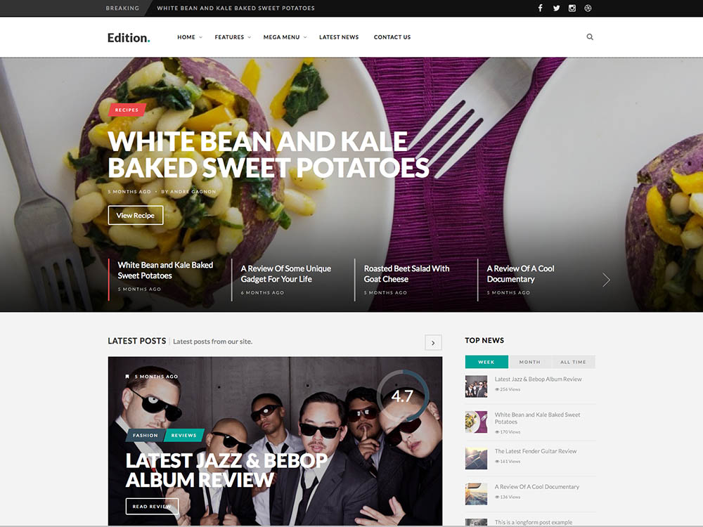 Edition - Best WordPress Magazine Themes