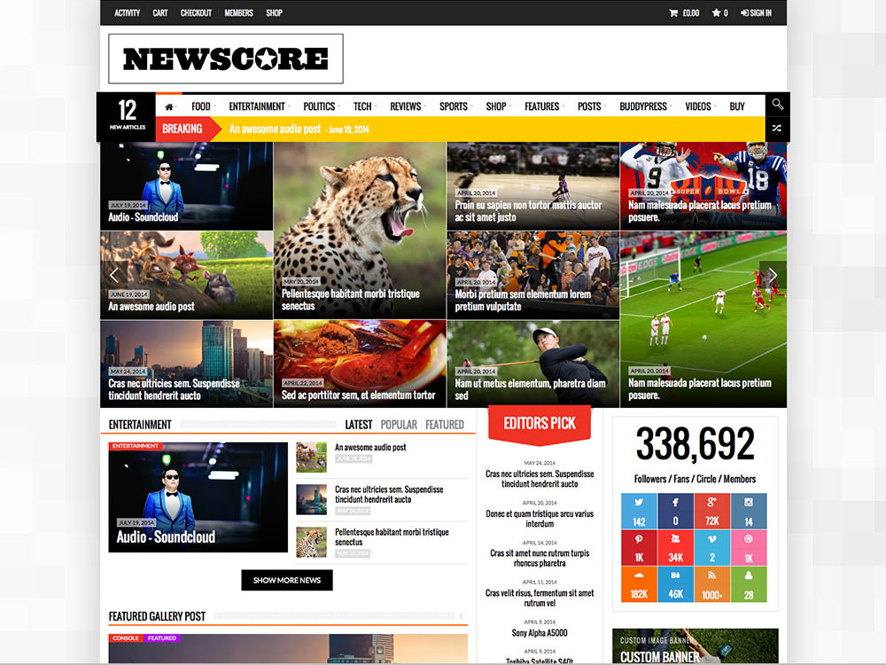 Newscore - Best WordPress Magazine Themes
