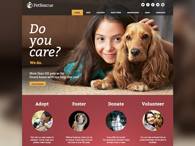 Pet Rescue WordPress Animal Theme