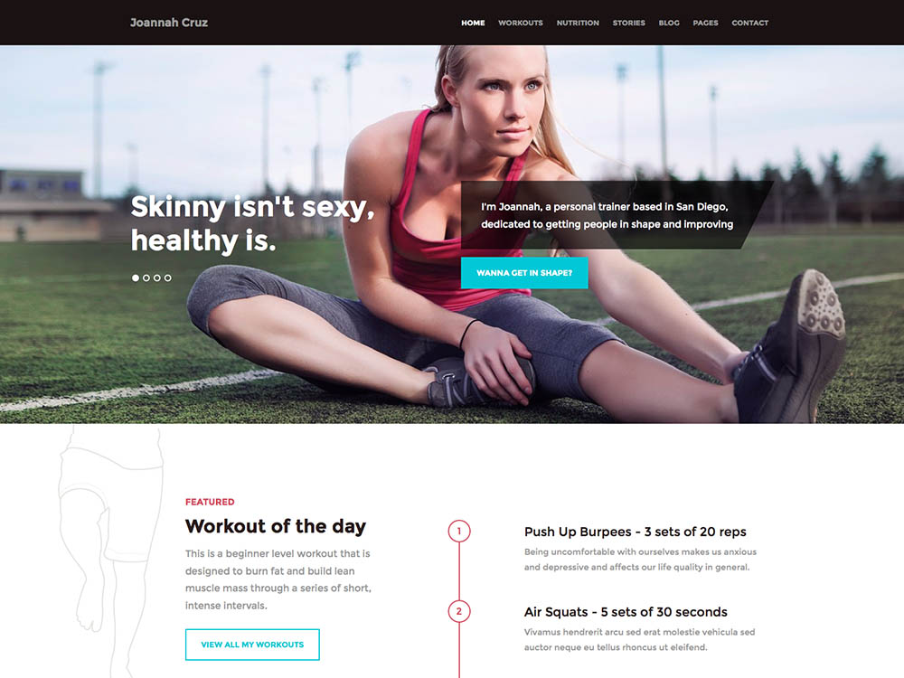 In Shape Best WordPress Gym and Fitness Themes