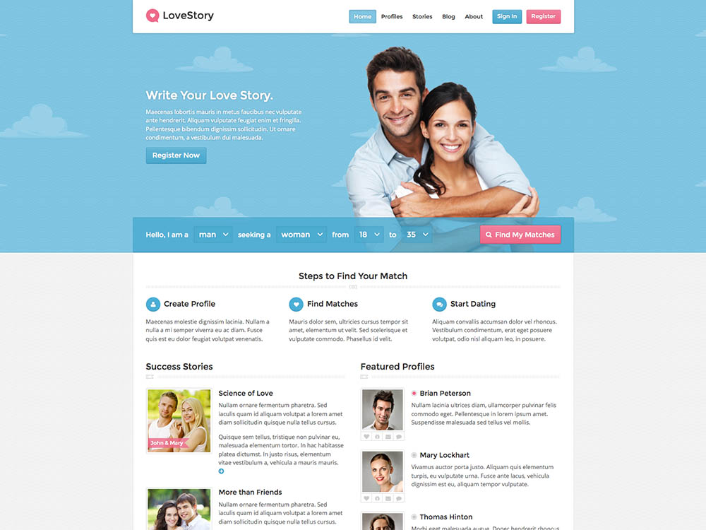wordpress dating theme premium