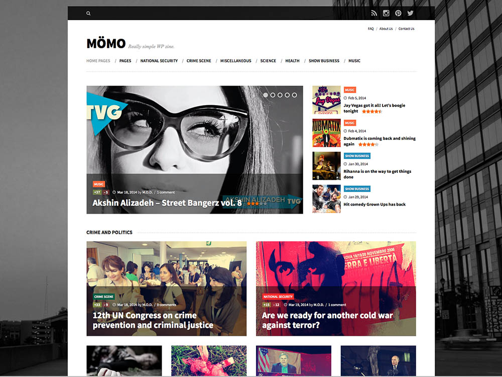 Momo - Best WordPress Magazine Themes