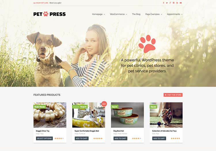Our favorite pet store theme for WordPress