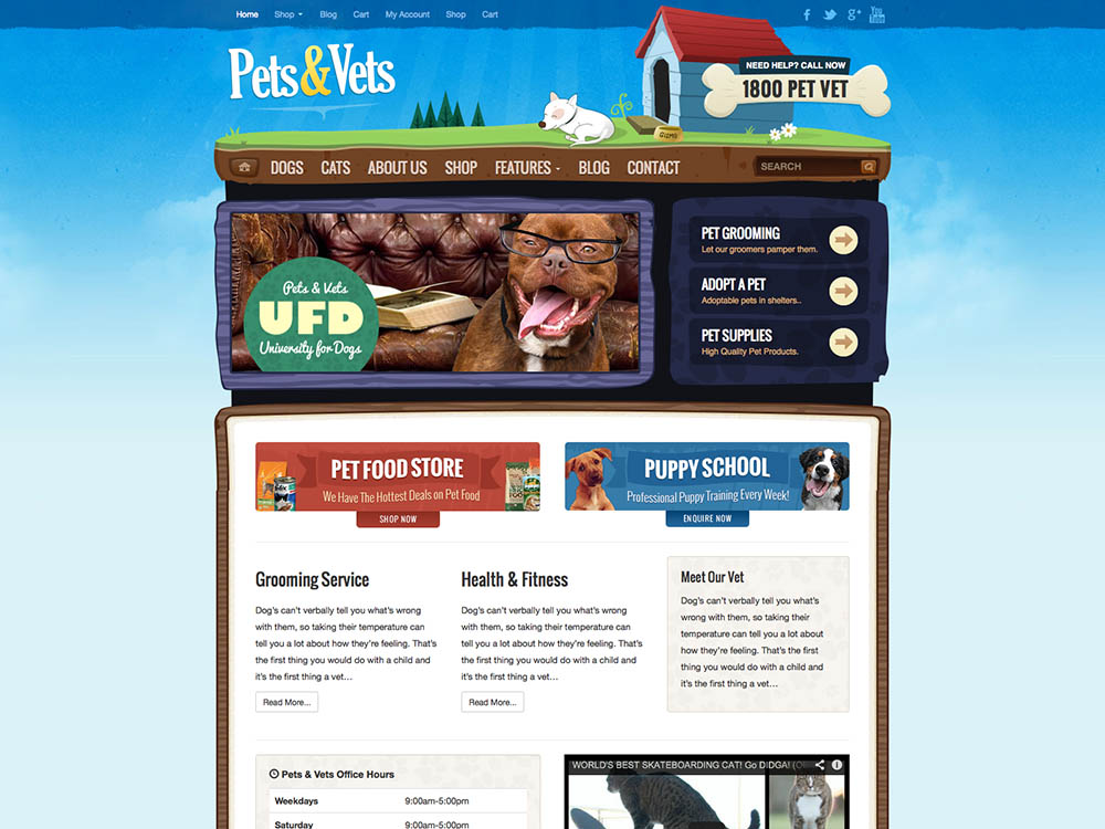 Pets & Vets: A WordPress pet theme