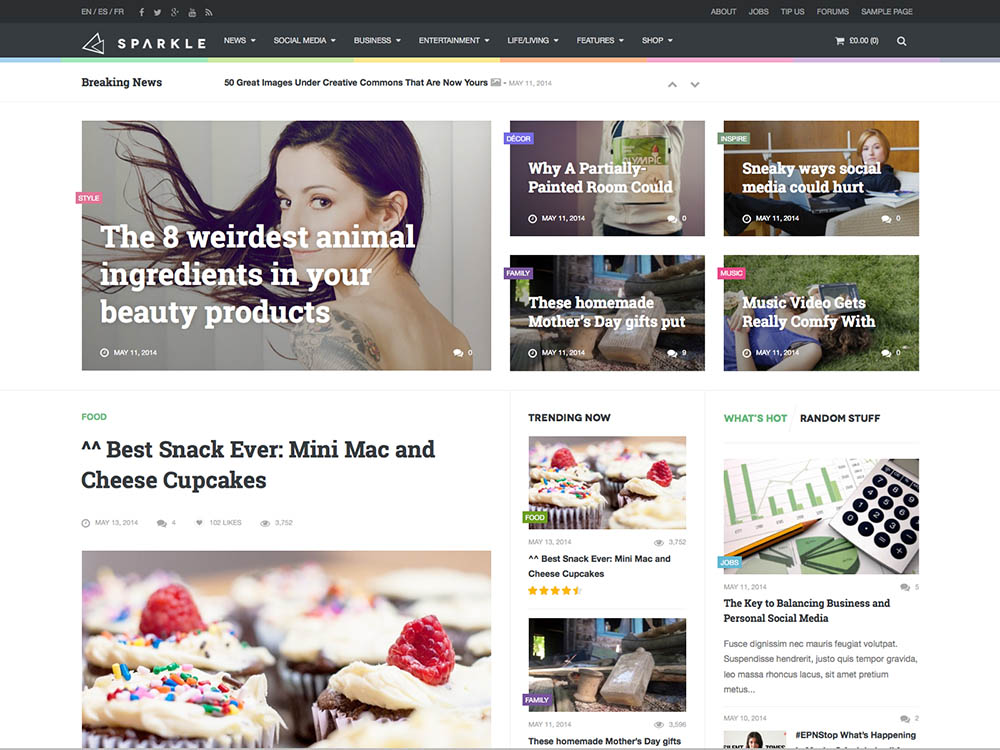 Sparkle - Best WordPress Magazine Themes
