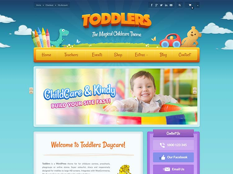 Toddlers Preschool Theme for WordPress