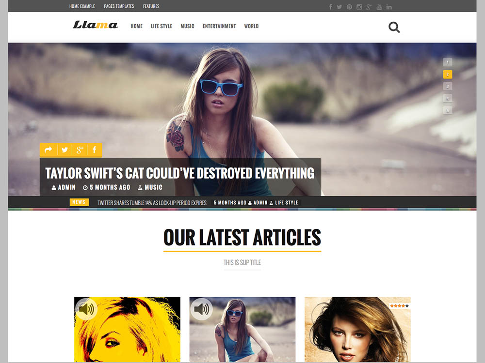 Llama - Best WordPress Magazine Themes