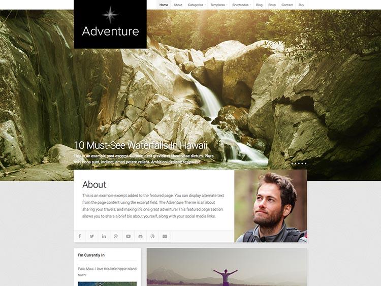 Adventure - Best WordPress Travel Blog Themes