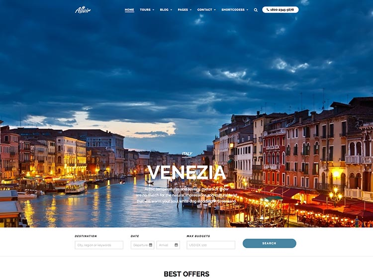 Altair - Best WordPress Travel Agency Themes