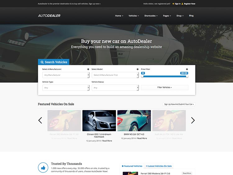 AutoDealer - Best WordPress Car Dealer Themes