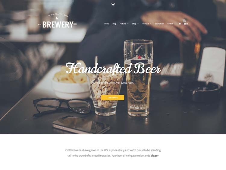 Brewery Beer Maker theme for WordPress