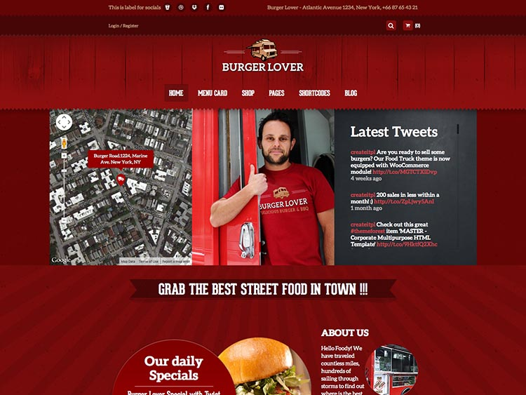 Food Truck - Best WordPress Restaurant Themes