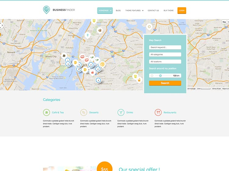 Business Finder - Best WordPress City Guide Themes