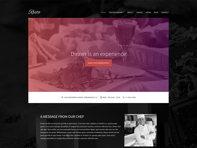 Resto - Best WordPress Restaurant Themes
