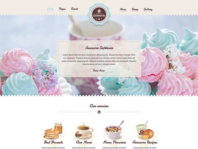 Cafeteria - Best WordPress Cake Shop and Bakery Themes