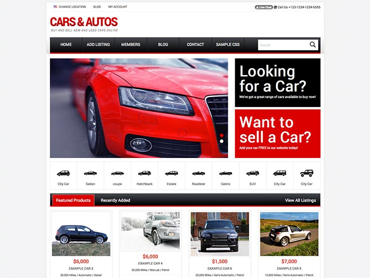 Responsive Car Dealer Theme