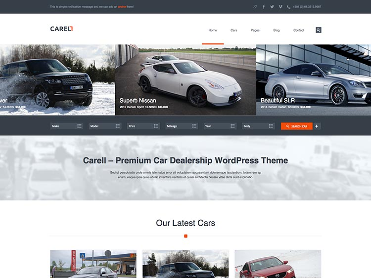 Carell - Best WordPress Car Dealer Themes