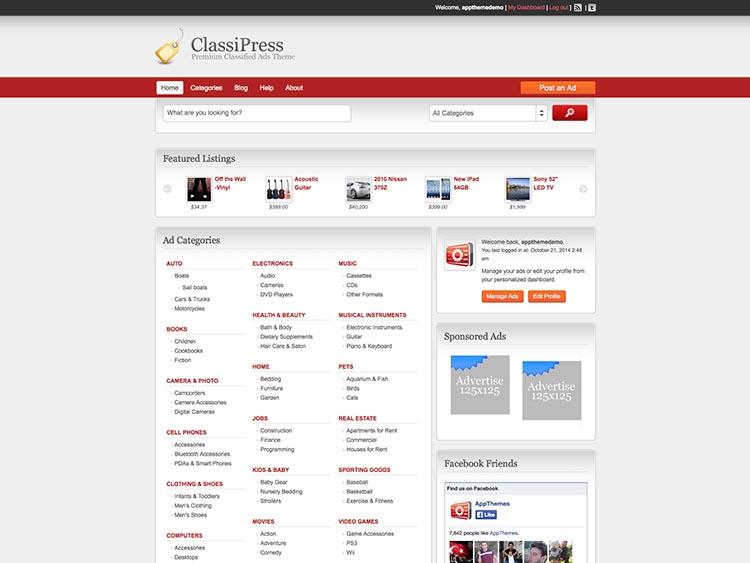 ClassiPress - Best WordPress Classified Ads Themes